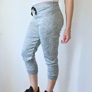 Pants - Marled Gray Knit Jogger Sweatpants Leggings NEW